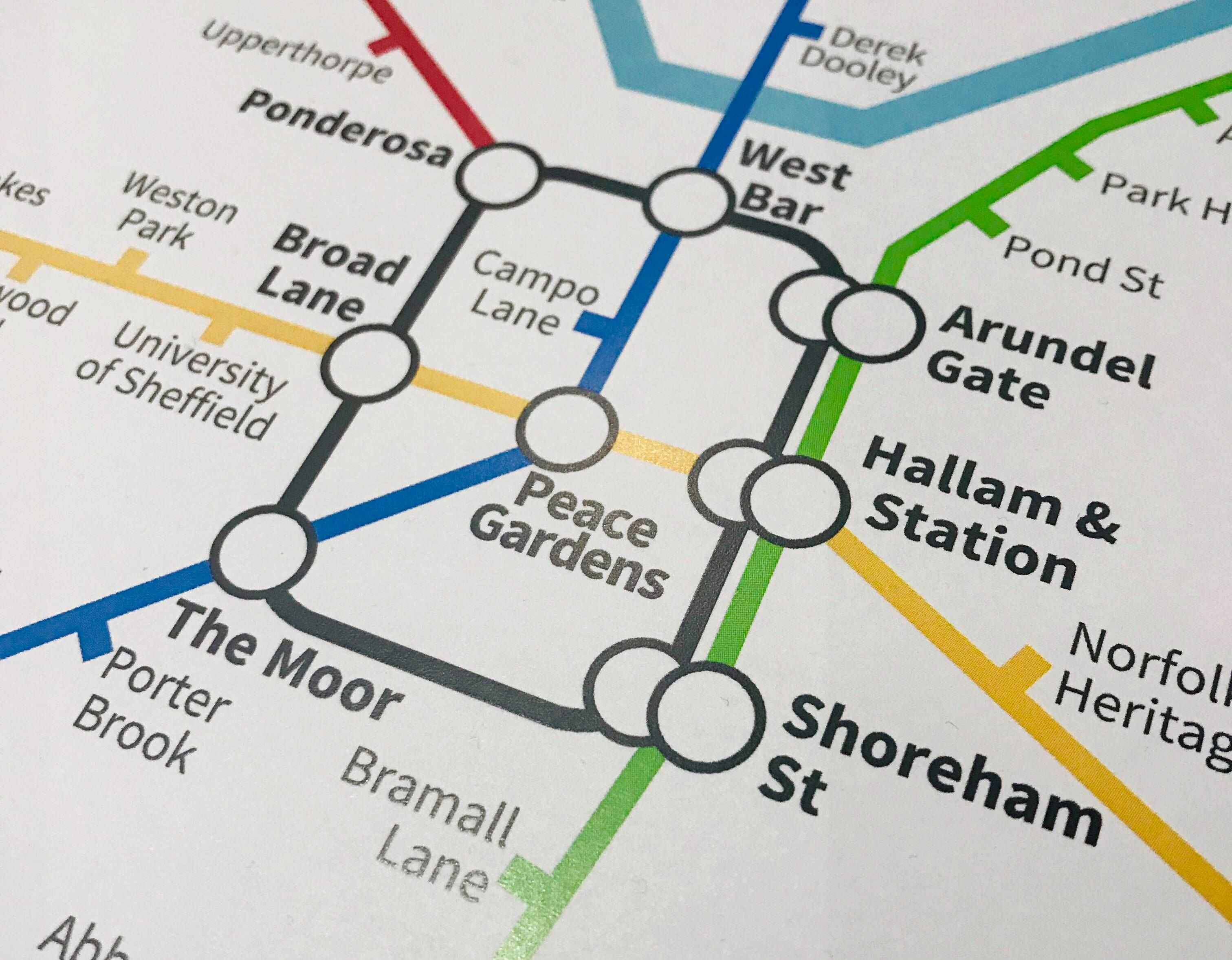 Sheffield, South Yorkshire   Underground Style Map   London ...