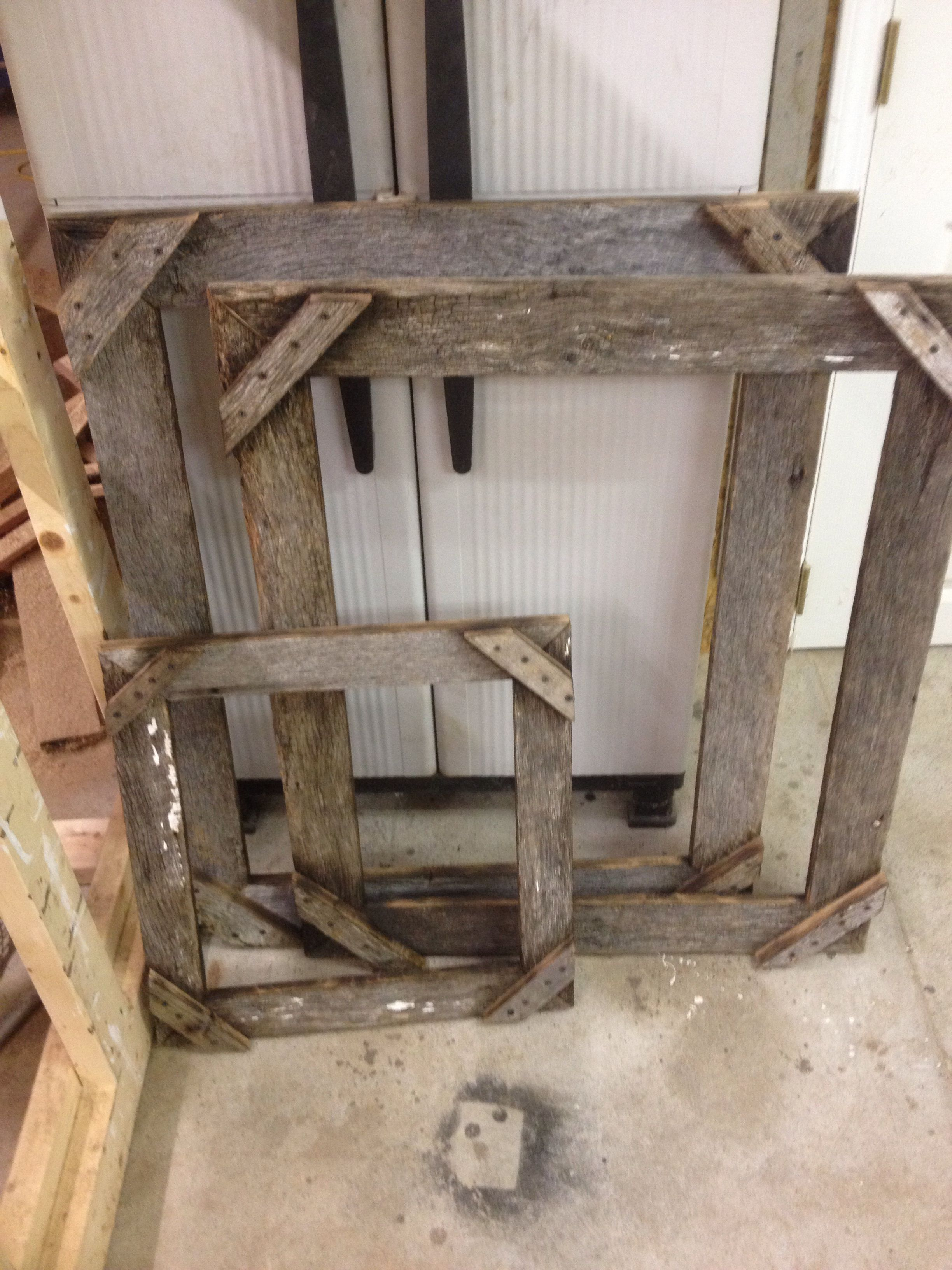 Rustic Barn Wood Picture Frames Made In Any Size Frames