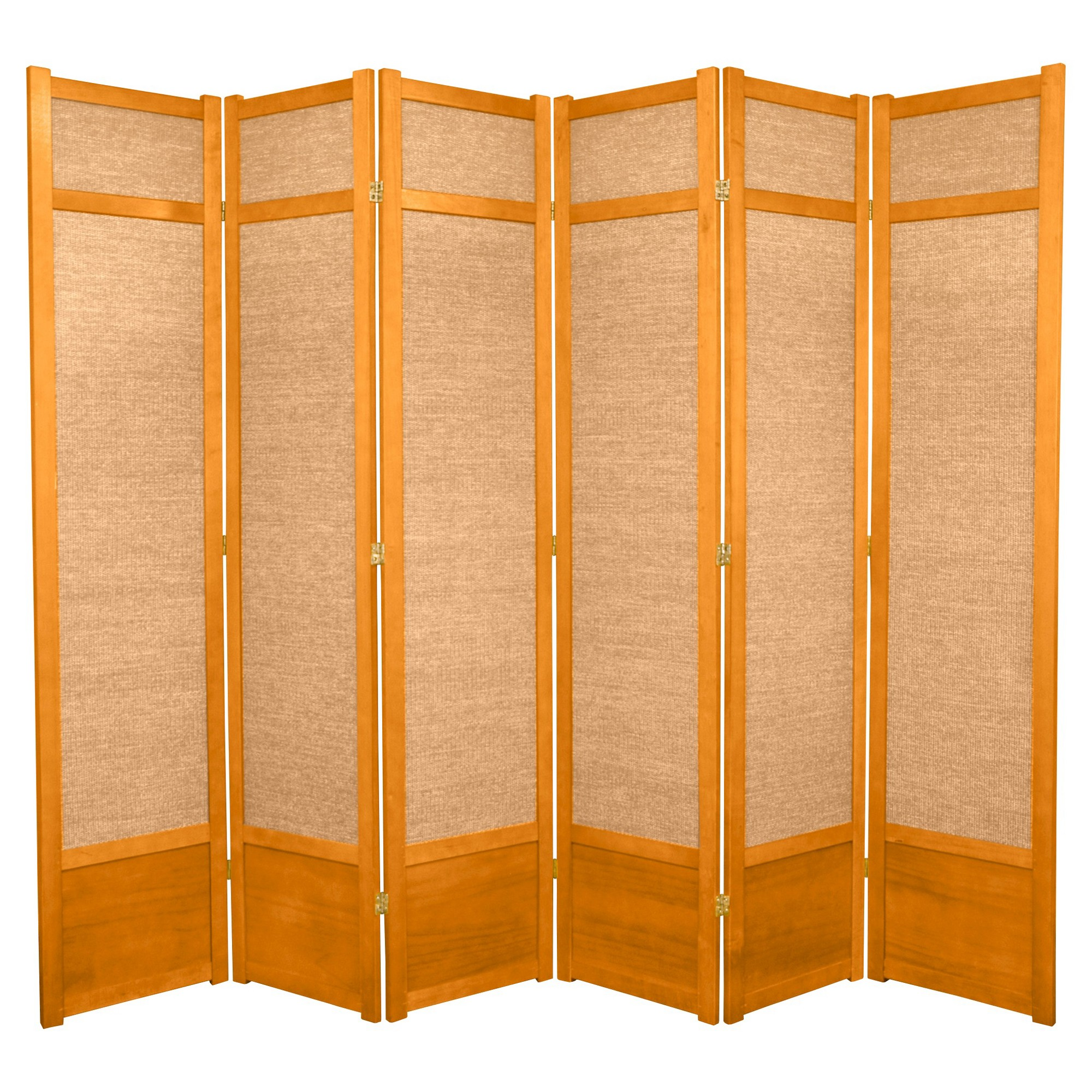 7 ft tall jute shoji screen honey 6 panels products rh pinterest at