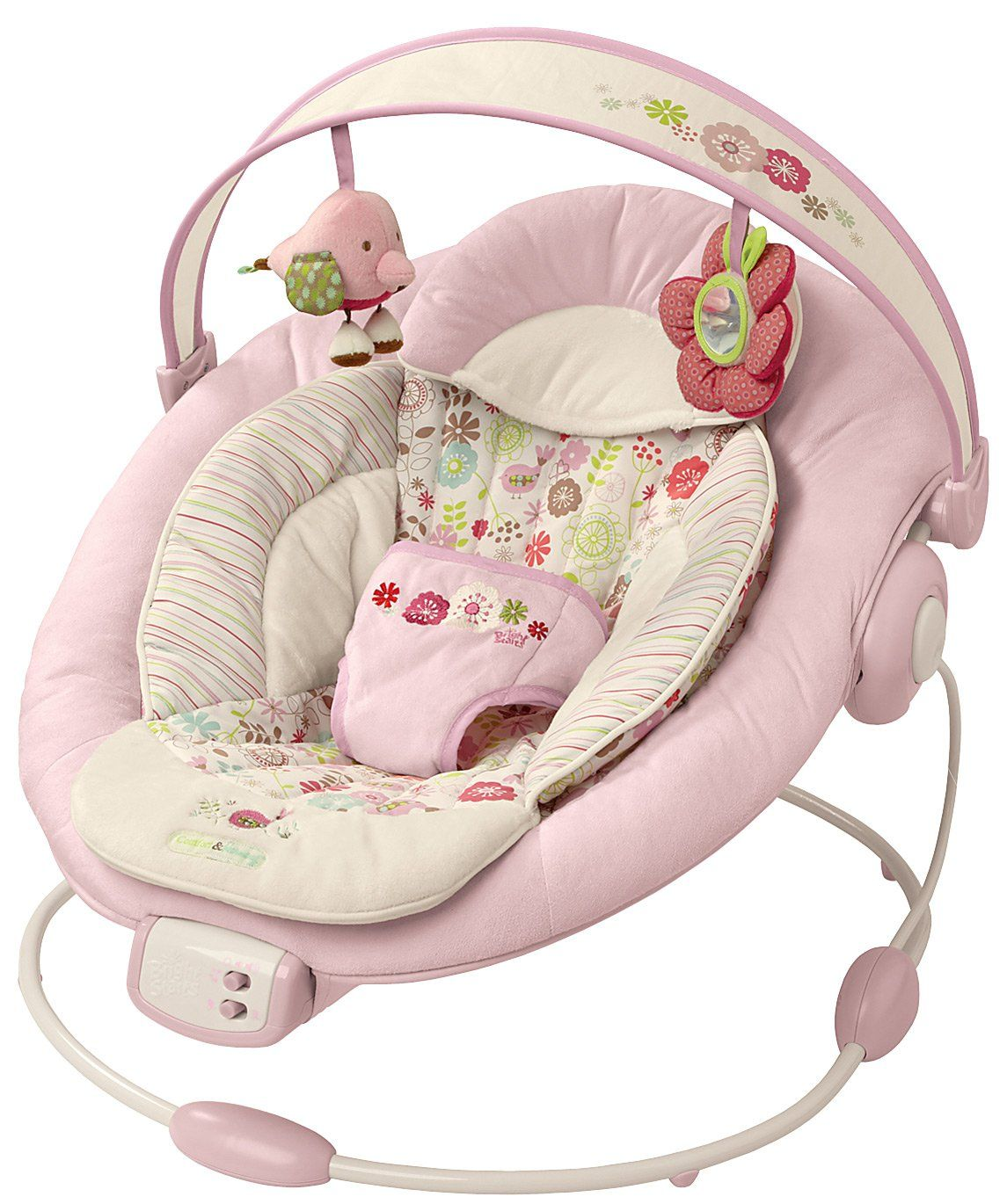 Bouncer Baby Bright Starts Comfort Harmony Cradling Bouncer Pink Baby Girl