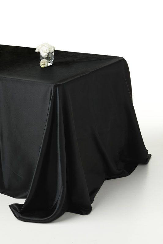 black satin #tablecoth Available for hire www decorit com au