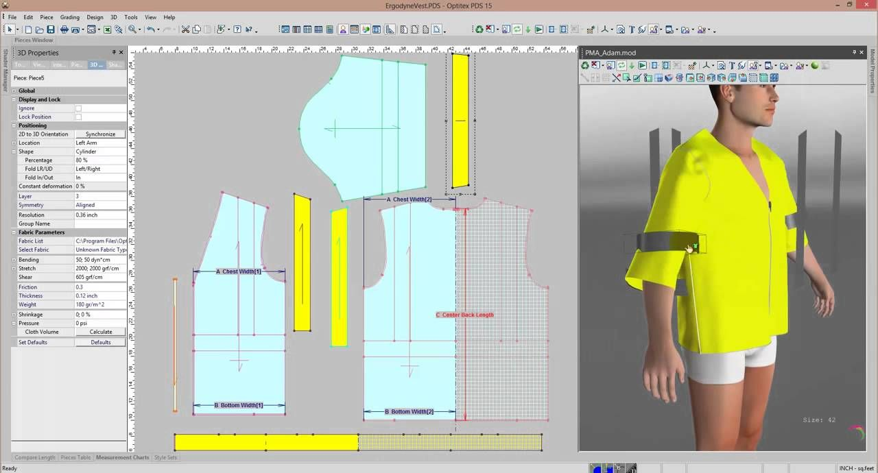 Pattern Design Software And 3d Sampling Of Industrial Clothing