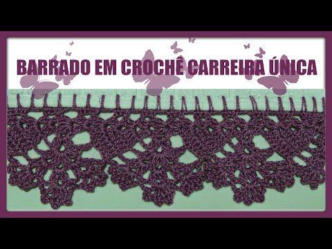 Barrado Em Croche Carreira Unica Diane Goncalves Clique Para
