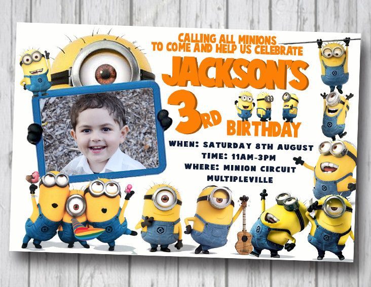 minion-birthday-party-invitations-and-get-ideas-how-to-make-your - first birthday invitation templates free
