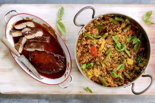 ingredients list for thursday 3 october 15 minute meals jamie oliver 15 minute meals pork glaze jamie oliver 15 minute meals pork