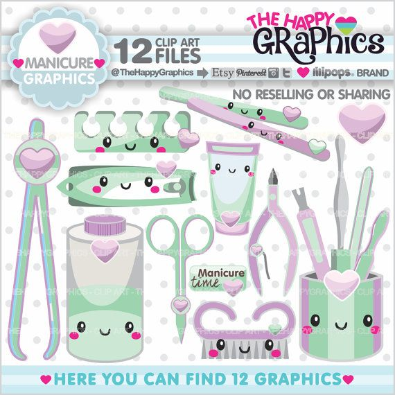 Manicure Clipart Manicure Graphics Commercial Use Salon Clipart