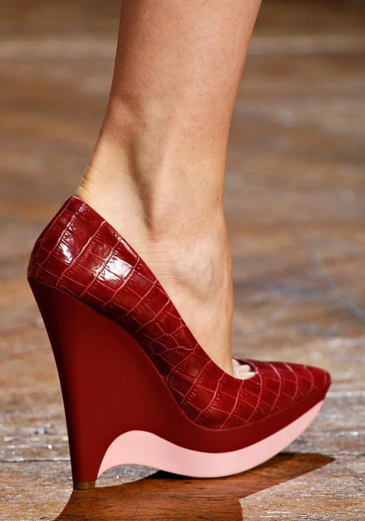 e8c75693fe73a STELLA McCARTNEY Wedges Shoes MOCK CROC BNIB size UK 5- 7