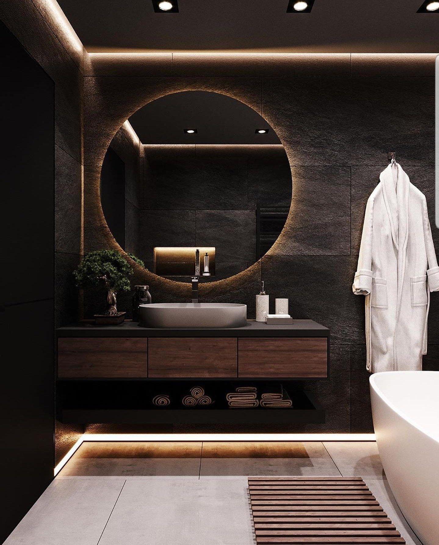 Pin By Virginie Letrentequatre On Home In 2020 Bathroom Design Luxury Bathroom Mirror Design Modern Luxury Bathroom