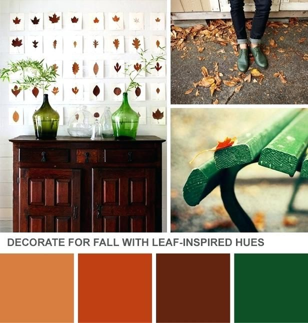 office color palette. Rust Color Palette Emerald Orange Fall Trend Office