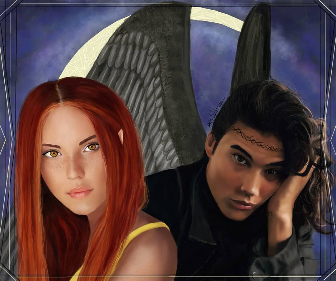 Alena S Instagram Profile Post Finally I Finished This Painting Of Bryce Quinlan And Hunt Athalar Enjoy Characters F In 2020 Crescent City Sarah J Maas City