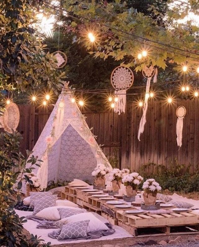 Planning an outdoor summer wedding? Get comfy and casual for your bridal shower … Garden
