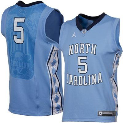 hot sale online 5175d 7a1b7 Nike North Carolina Tar Heels (UNC) #5 Youth Replica ...