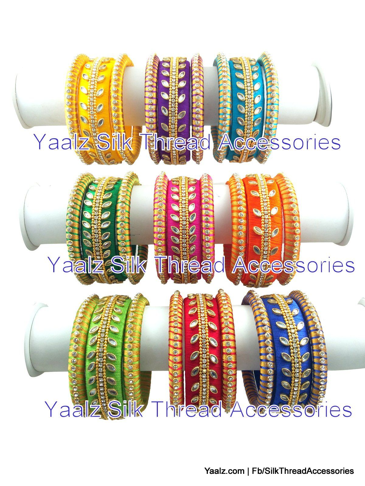 a7f9997bc8be2 Return Gift Heavy Kundan Stone Bangle Sets In Nine Assorted Colors ...