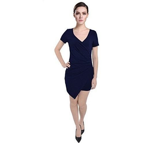 Short Sleeve Wrapped Bodycon Dress *Plus