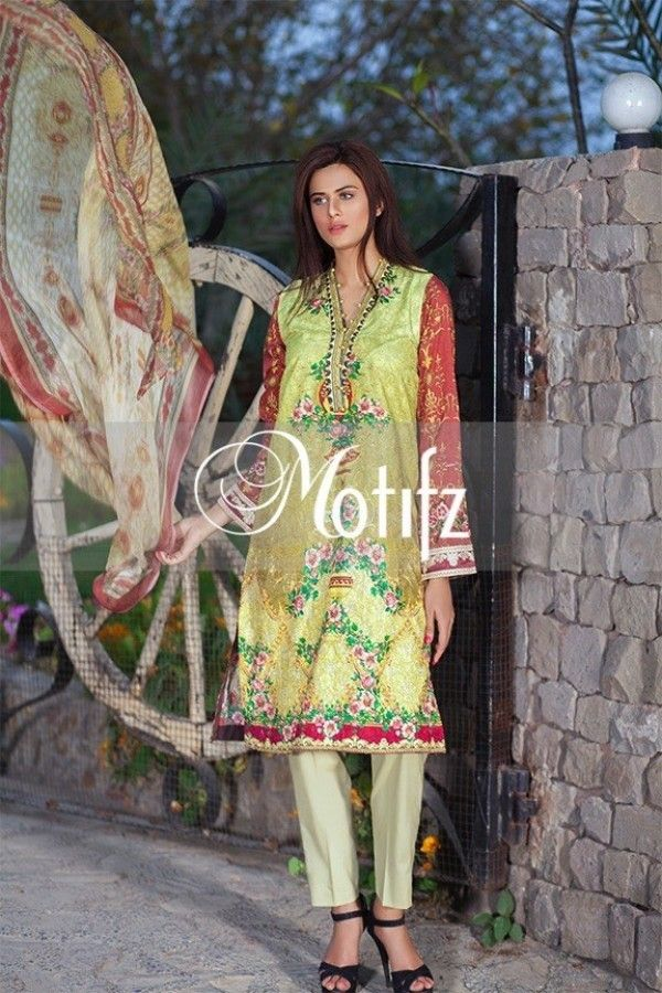 beee9b5030 Shirt: Fabric: Digital Printed Shirt with Sleeves, Embroidered Patches  Shalwar/Trousers: Fabric: Pure Cotton Trouser. Dupatta: Fabric: Digital  Printed ...