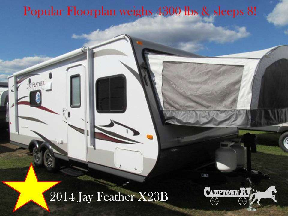 Jay Feather 2014 Ultra Lite X23B available at Camptown RV in North Carolina.  Camptown-RV.com 877-760-1348