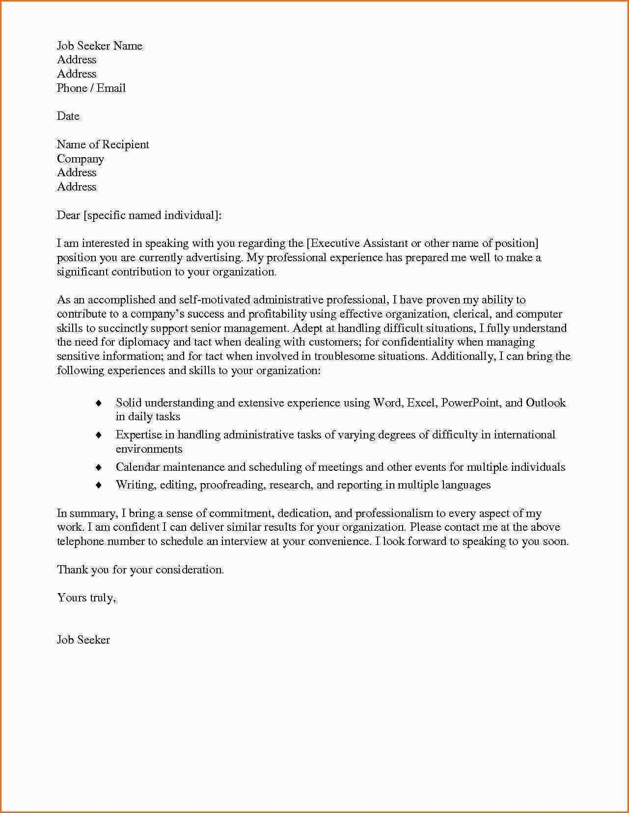 23 Cover Letter For Administrative Assistant Cover Letter Resume
