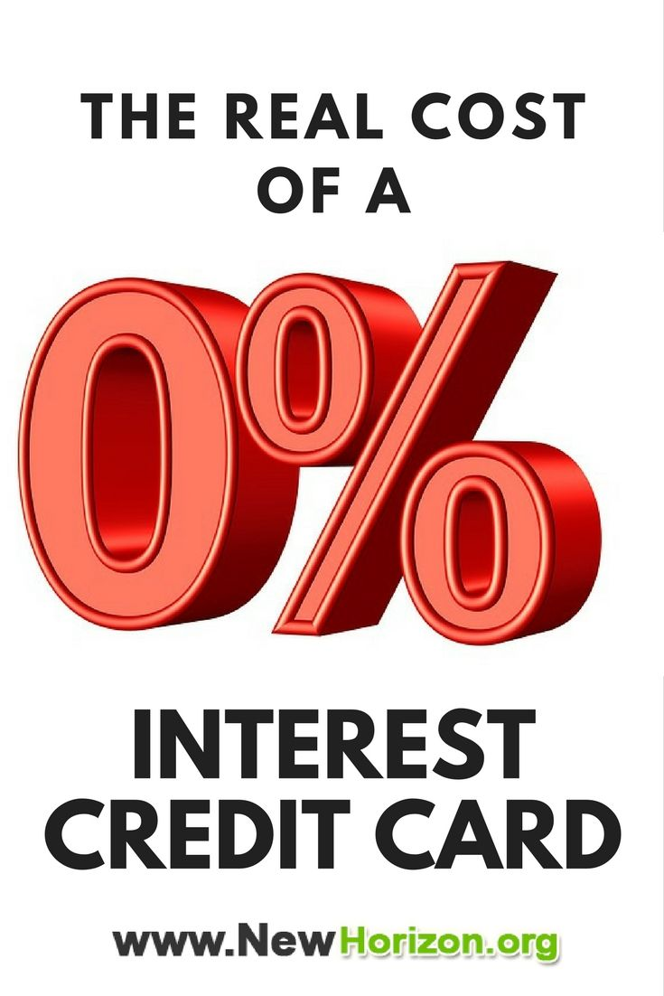 The Real Cost Of A Zero Interest Credit Card Post secondary