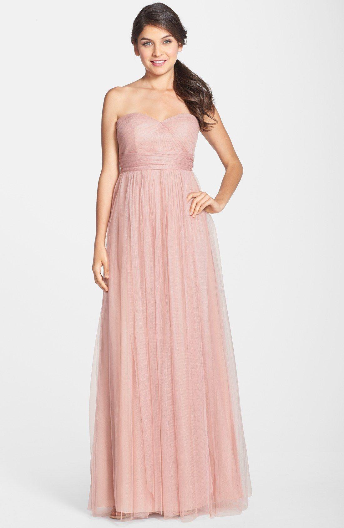 3b122e5e7a27d Jenny Yoo 'Annabelle' Convertible Tulle Column Dress   Nordstrom ...