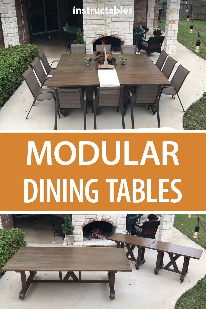 Modular Dining Tables Diy Patio Table Square Patio Table