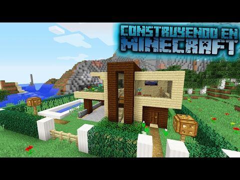 Como hacer una casa moderna para survival en minecraft for Casa moderna y pequena en minecraft