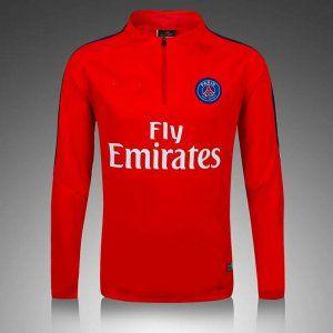 PSG 16-17 Season Red Soccer Sweater Shirt [G624]