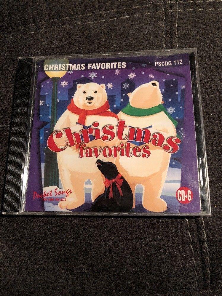 Christmas Karaoke Cd.Christmas Favorites Karaoke Cd G Pocket Songs You Sing The