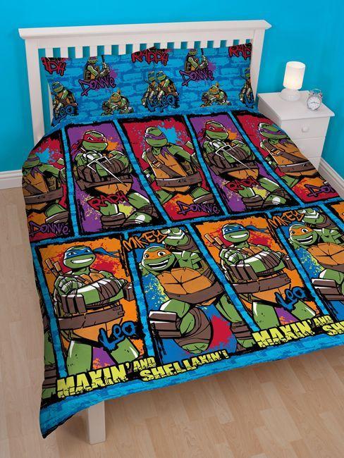 Teenage Mutant Ninja Turtles Urban Double Duvet Cover Bedding Set Perfect Additi Ninja Turtle Bedroom Teenage Mutant Ninja Turtles Bedroom Ninja Turtle Room