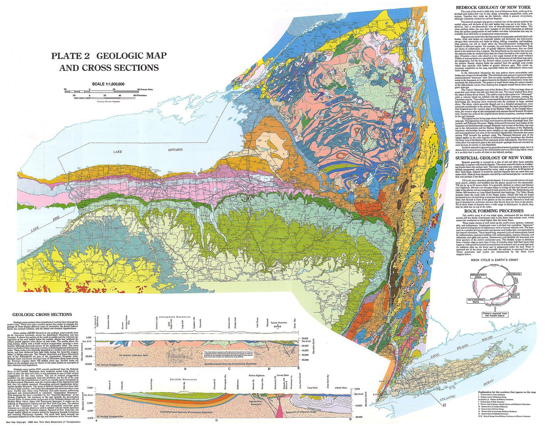 topographic map of new york city Ny Geol Map Jpg 1 836 1 442 Pixels Map Of New York New York City Map Map