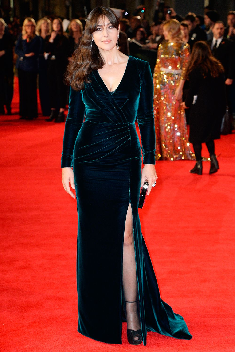 c42dfba356a Monica Bellucci in Ralph   Russo Couture with  Chopard jewels attends the  Royal Film Performance of