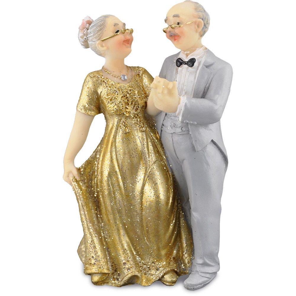 Brautpaar 115 cm Hochzeitspaar Goldpaar Gold