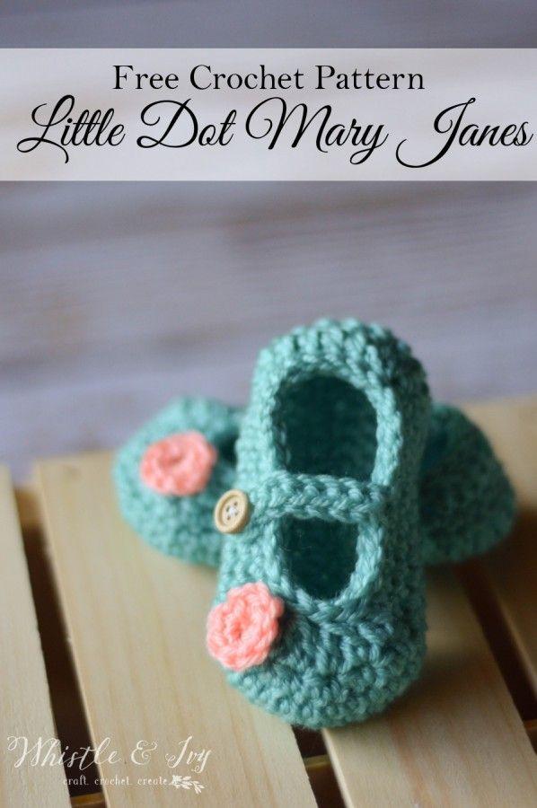 Little Dot Mary Janes Pattern | Bebé, Ganchillo y Tejido