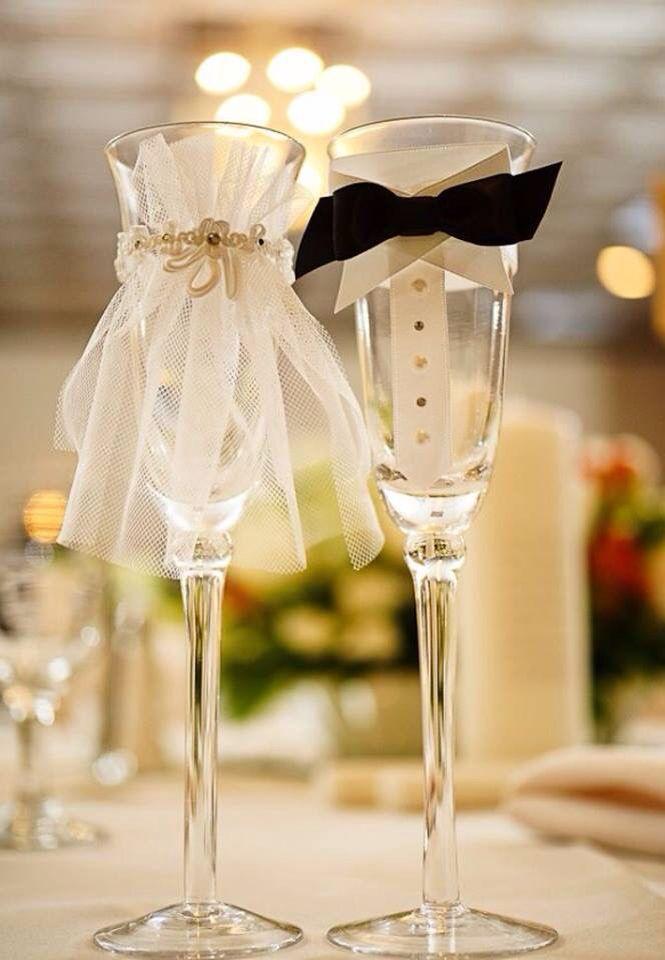 2er-Set Glass Decoration Bride and Groom look Mr /& Mrs Champagne Glass Decoration Bride Groom