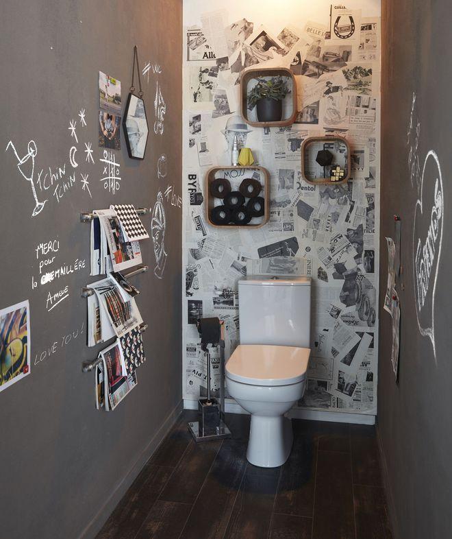 peinture wc id es couleurs pour les toilettes le ptit. Black Bedroom Furniture Sets. Home Design Ideas