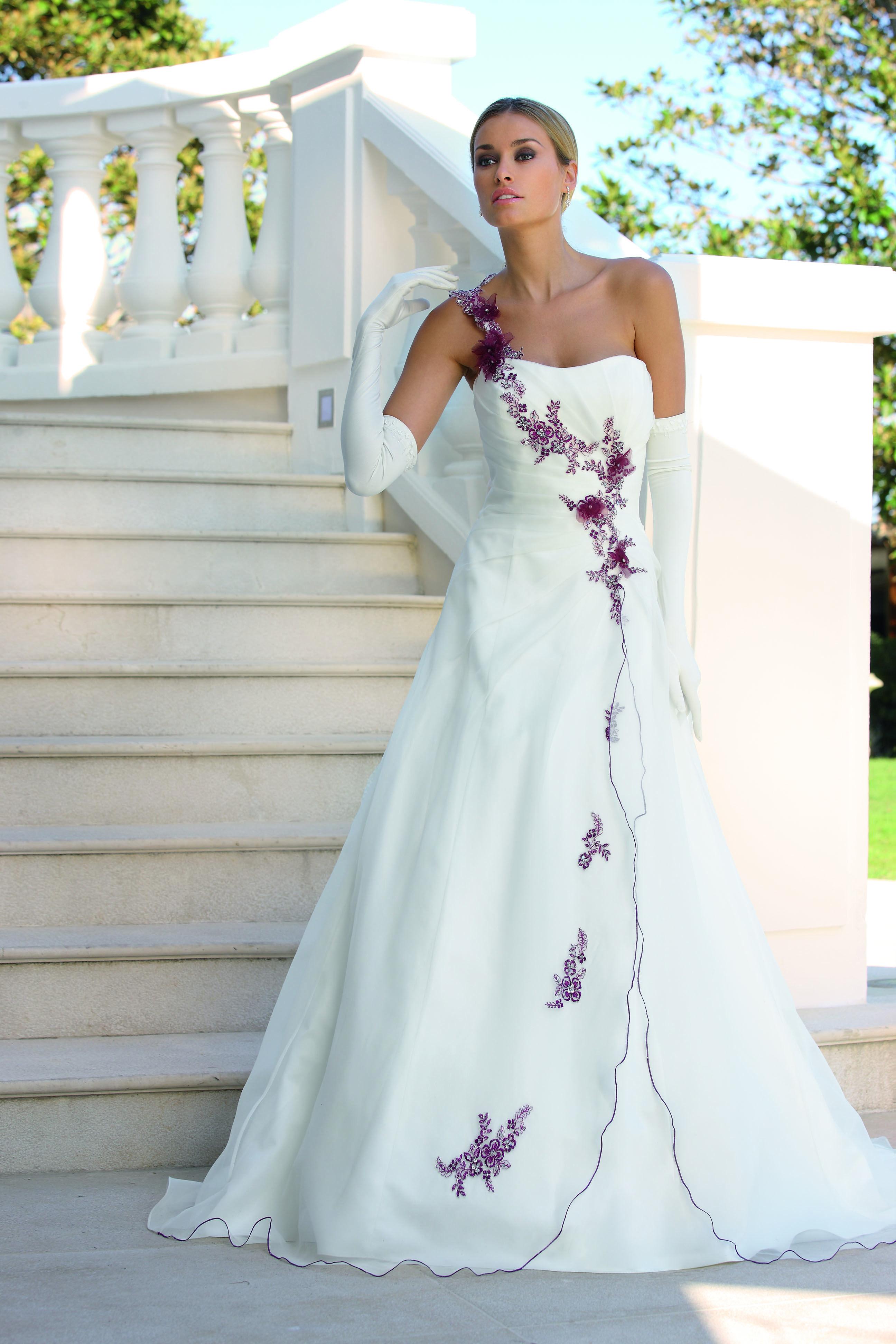 Ladybird Wedding Dress style 33000 Ivory-Burgundy-Silver | wedding ...