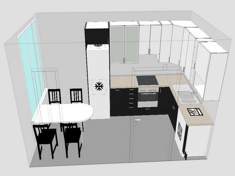 Awesome Free Kitchen Planning Showing Cabinet And Small Dining Set Design Plan In Detail