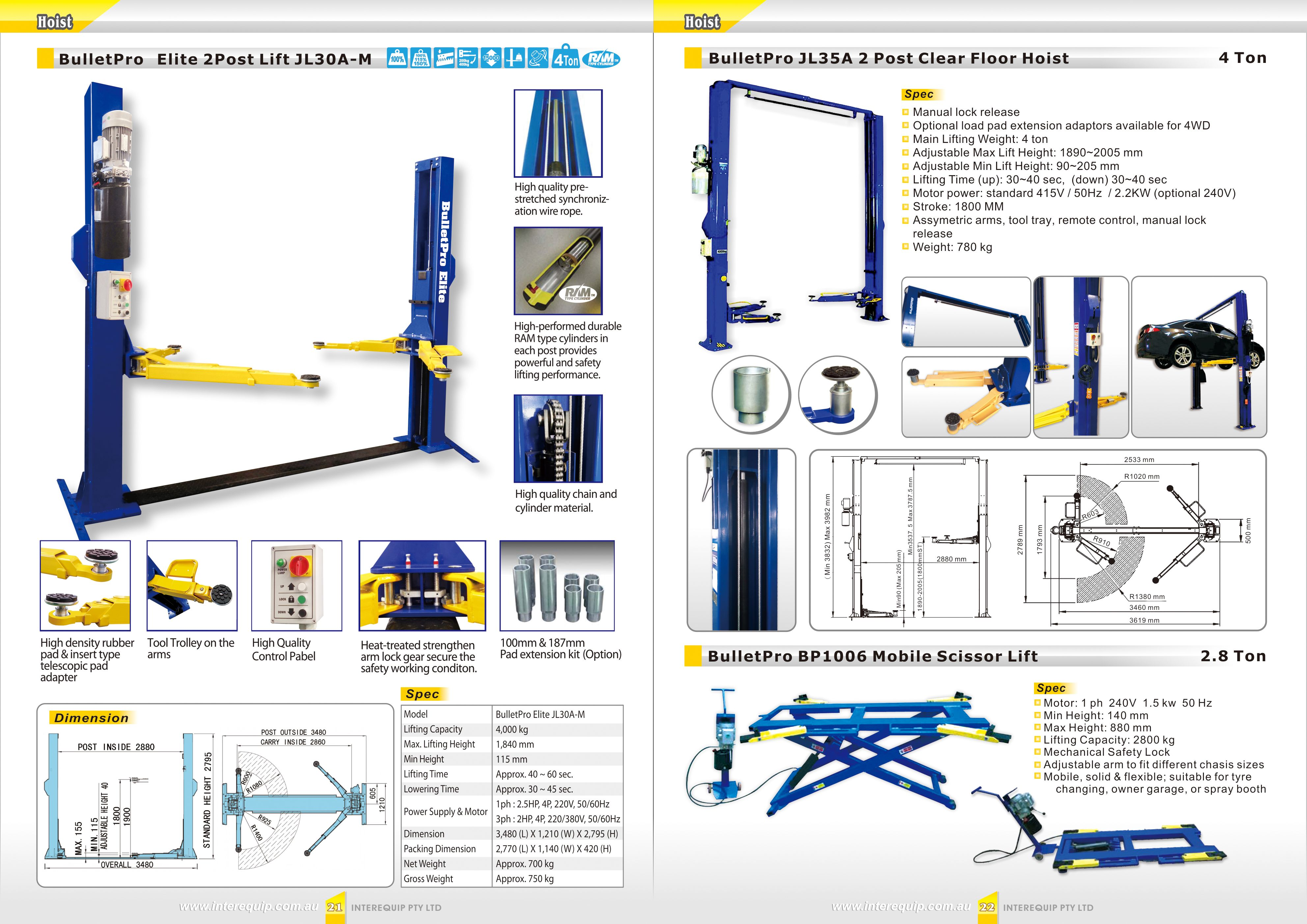 7c27ed8cbb1d2dbe3d20d073f4175f3b hoist bulletpro elite 2 post lift jl30a m (4 ton) bulletpro Basic Electrical Wiring Diagrams at webbmarketing.co