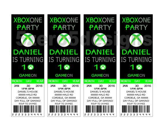 Xbox One Invitation Xbox One Party Xbox Birthday Party Xbox Party