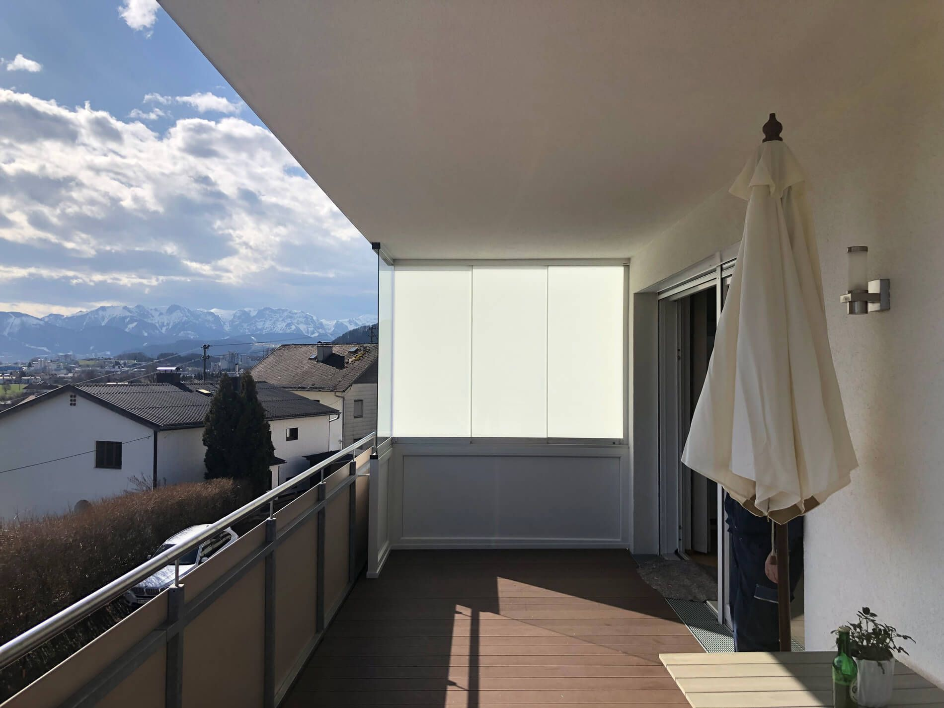 Balkonverglasung Als Seitlicher Sichtschutz Sichtschutz Fenster