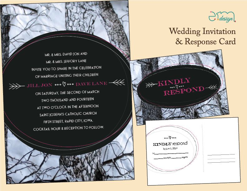 White Mossy Oak Camo Wedding Invitation and Response Card. Features ...