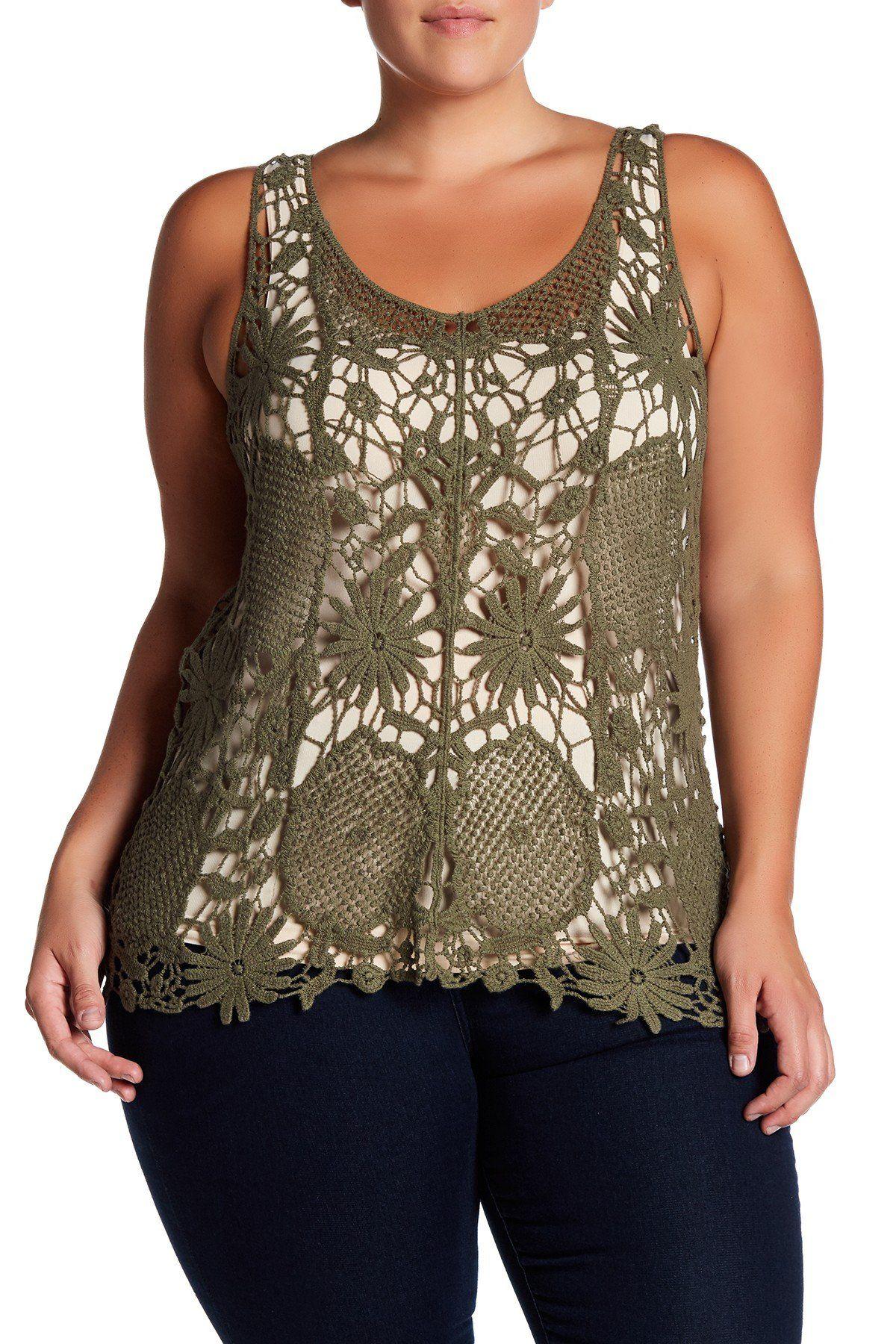 f82ca6e69477 Crochet Tank (Plus Size)   Products   Fashion, Plus size women's ...