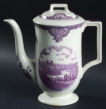 My favorite china pattern, Johnson Brothers Lavender Old Britain Castles