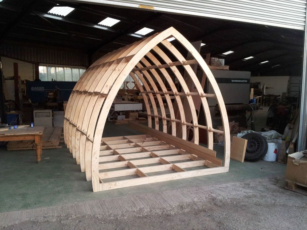 Glamping pods garden rooms office framework cabin for Pod house plans