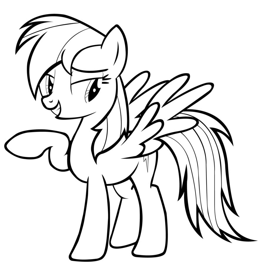 Rainbow Dash Coloring Pages Cartoon Coloring Pages My