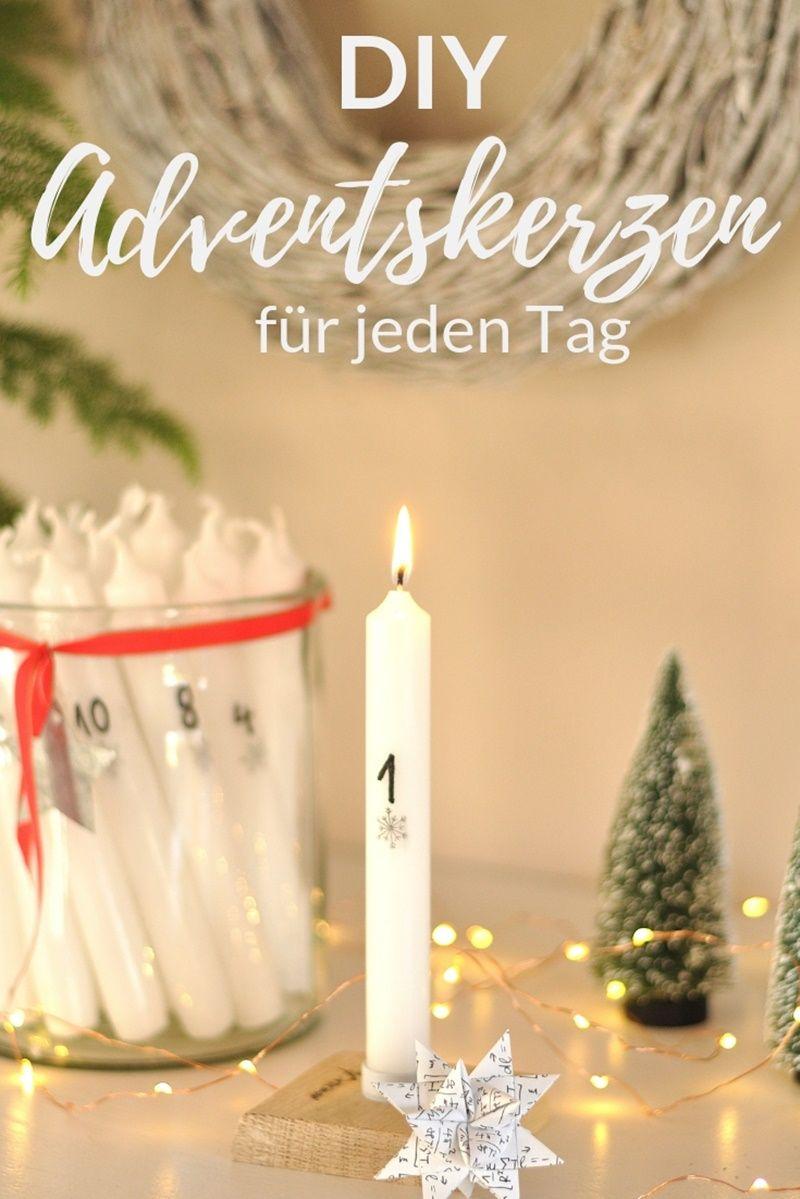 Adventskerzen Mit Zahlen Diy Adventskerzen Advent Kerzen Und