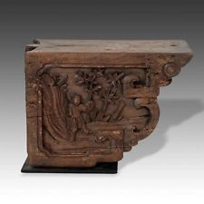 Lot Of 2 Antique Chinese Wood Corbel Architectural Decoration Design 19th C Wood Corbels Architectural Decoration Architectural Antiques