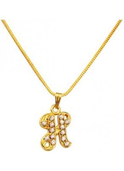 739186670d618b GOLD H- ALPHABETS PENDENT Alphabet Pendant