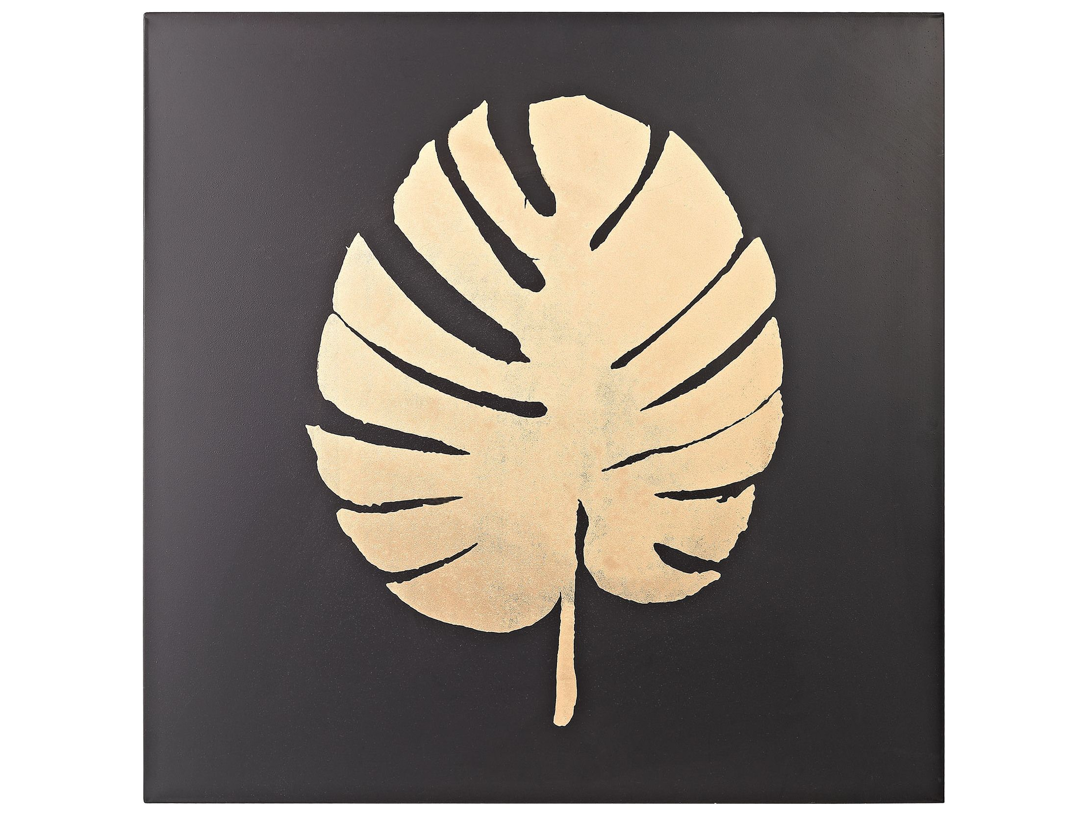 Sterling Heavy Metal Black & Gold Palm Frond Wall Decor | Wall Decor ...