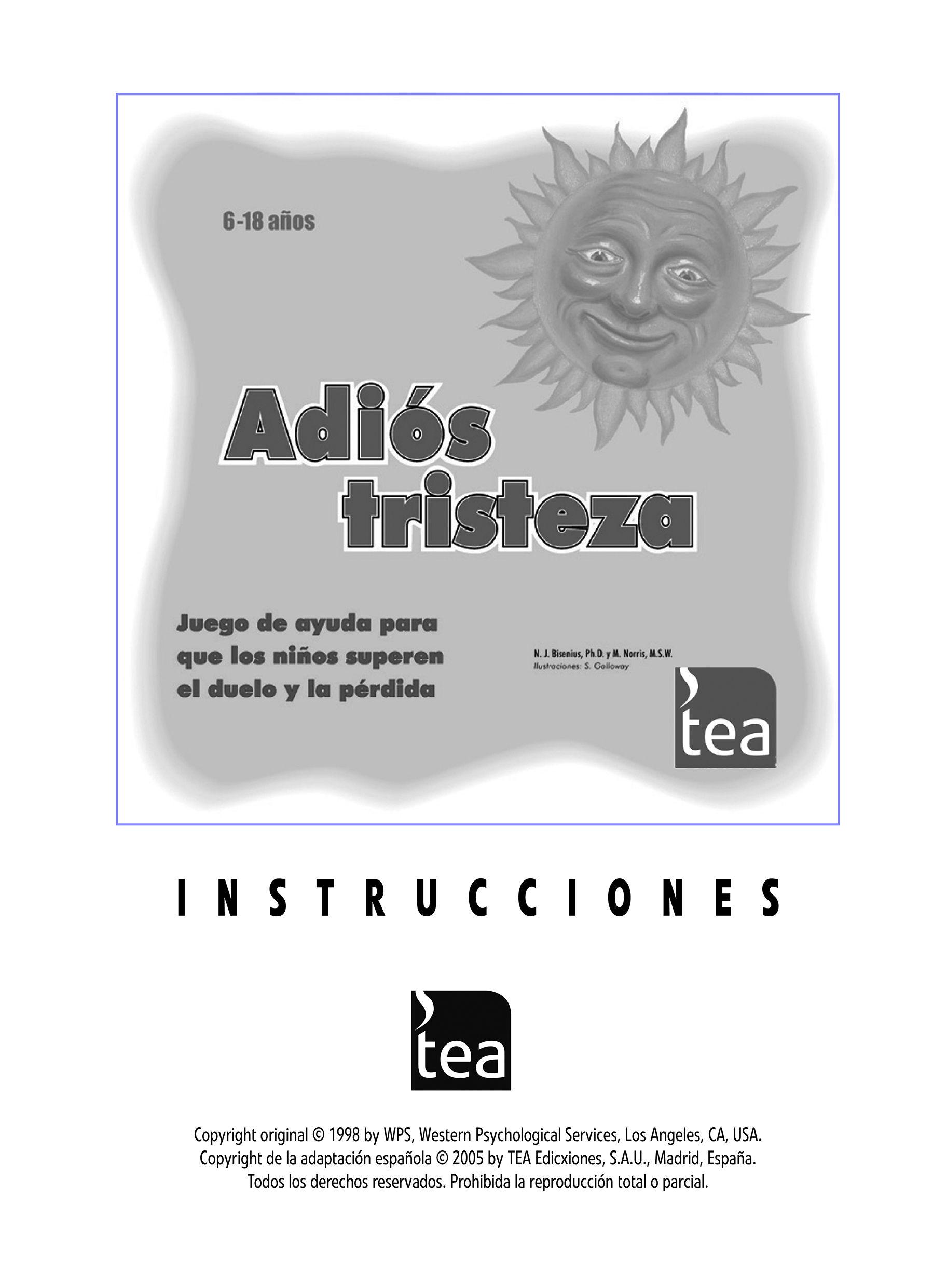 """Manual descargable del #juego """"Adiós Tristeza"""" para que"""