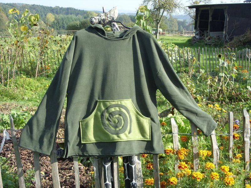 Fleecesweater Zipfelkapuze, Mittelalter BIG HIPPIE von BIG HIPPIE auf DaWanda.com